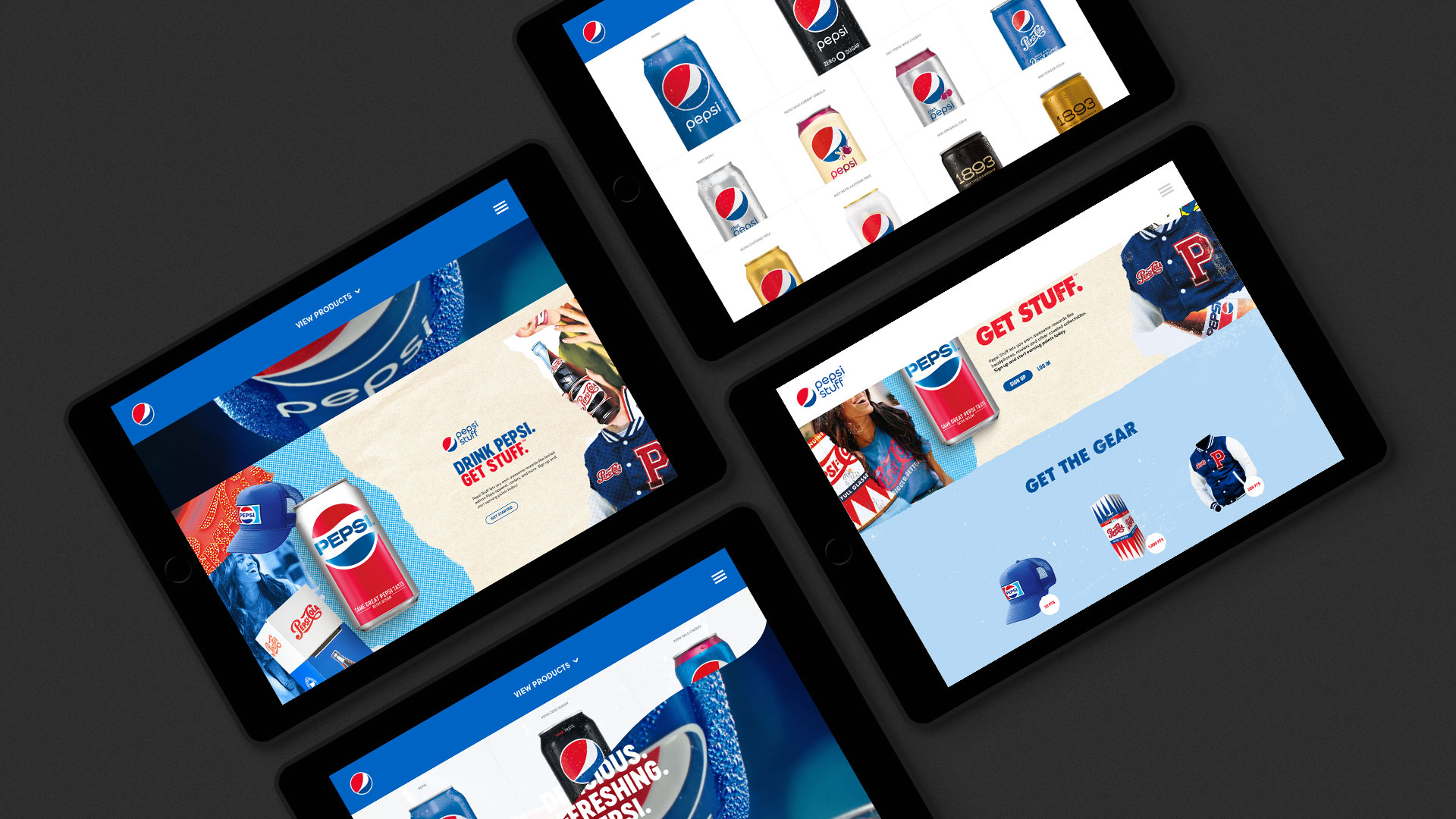 firstborn - Our Work - Project Archive - Pepsi Website Redesign